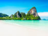 Beauty beach and limestone rocks